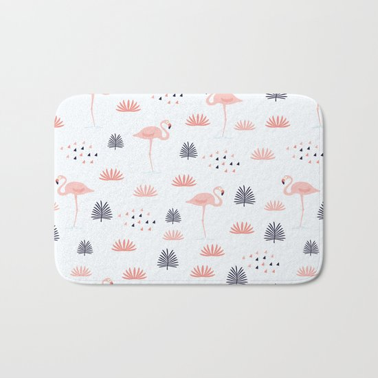 Flamingos Pattern Bath Mat