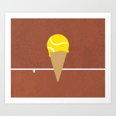 Tennis Ice Cream Art Print
