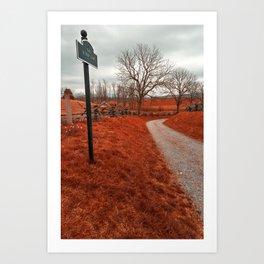 Bloody Red Lane Art Print