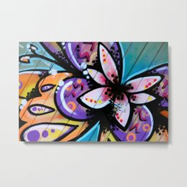 Bright Butterfly Metal Print