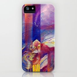Eye of the Storm by Nadia J Art iPhone Case