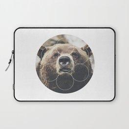 Big Bear Buddy - Geometric Photography Laptop Sleeve
