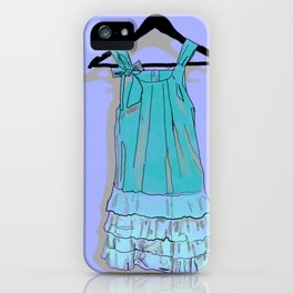 Blue Doll Dress iPhone Case