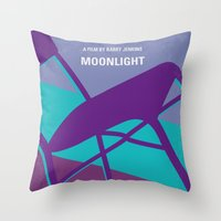 No757 My Moonlight minimal movie poster Throw Pillow