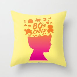 80s child Throw Pillow