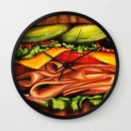 Sandwich- Turkey Bacon Avocado Wall Clock