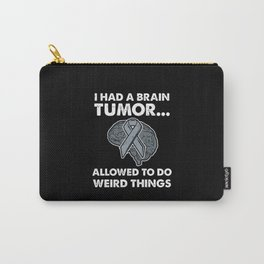 Brain Tumor Survivor Recovery Gift Carry-All Pouch