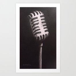 Vintage Mic Art Print