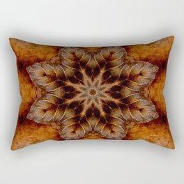 Autumn Equinox // Nature Mandala Visionary Art Leaf Leaves Tree Forest Woods Fall Seasons Rectangular Pillow