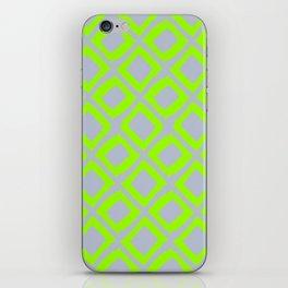 Neon Lime Diamonds on Slate  iPhone Skin