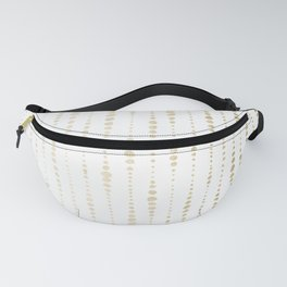 NYC Nights Gold Polka Dot Stripes Fanny Pack