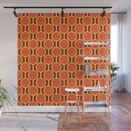 Retro-Delight - Simple Circles - Citrus Wall Mural