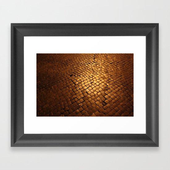 paving stone gold Framed Art Print