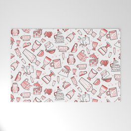 Filled with Holiday Spirit Christmas Cups Welcome Mat