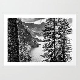 Forest Lake Retreat - Crater Lake Art Print