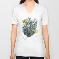 fireworks V-neck T-shirts featuring Fireworks by myesaeed