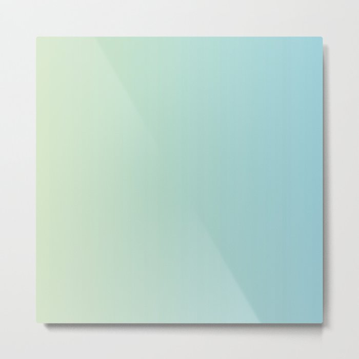 Turquoise Green Blue Gradient Metal Print
