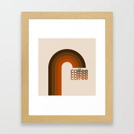 Cocoa Coffee Rainbow Framed Art Print