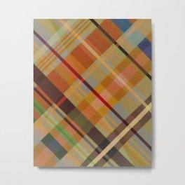 Colorful Plaid #2 Metal Print