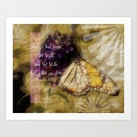verse Art Prints featuring Truth - Verse by Anita Faye