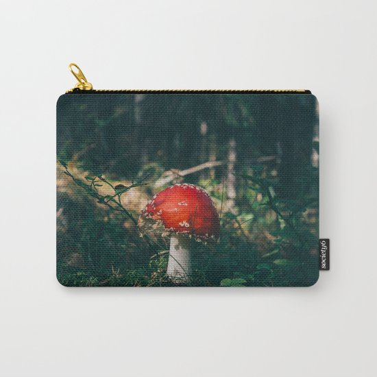 Little Red Mushroom in the Forest Carry-All Pouch
