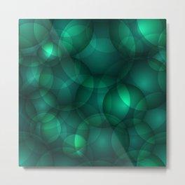 Luminous lead soap circles and volumetric cobalt bubbles of air and water. Metal Print