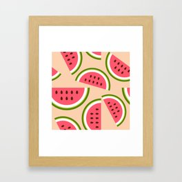 Watermelon pattern Framed Art Print