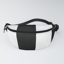 5th Avenue Stripe No. 2 in Black and White Onyx Fanny Pack