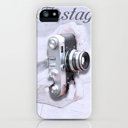 Human and camera iPhone Case