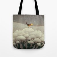 star Tote Bags featuring Lost Star by Paolo Domeniconi