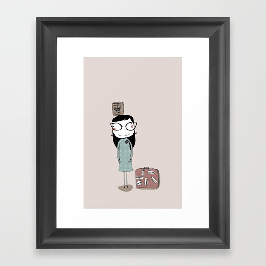 Keep Calm and Travel On Framed Art Print