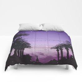 Tropical Summer Night Comforters