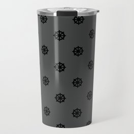 Dharma Wheel Pattern (grey) Travel Mug