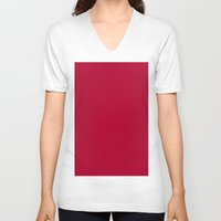 alabama V-neck T-shirts featuring Alabama Crimson by List of colors