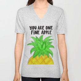 Pineapple Pun Unisex V-Neck