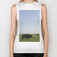 buffalo Biker Tanks featuring Buffalo by AlanW