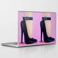 battlefield Laptop & iPad Skins featuring Pink Lady by Little Bunny Sunshine