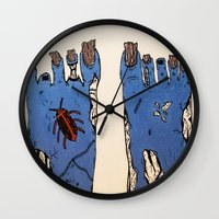 the walking dead Wall Clocks featuring Walking Dead by Jordan Luckow