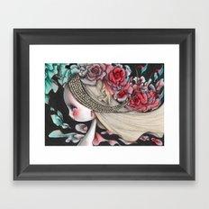 Flower Wind Framed Art Print