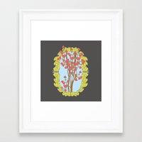 frame Framed Art Prints featuring Frame  by nandita singh