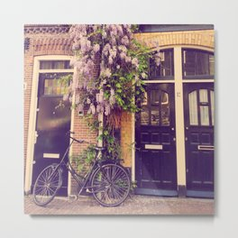 Dutch Bicycle in Europe Metal Print