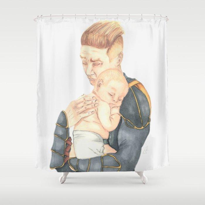 3 Shhhh The Baby Is Sleeping Shower Curtain By Armorandtea