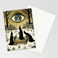 Three Shadow People Terrify a Victim During an Episode of Sleep Paralysis Stationery Cards