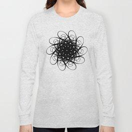 BLACK SWOOSH Long Sleeve T-shirt