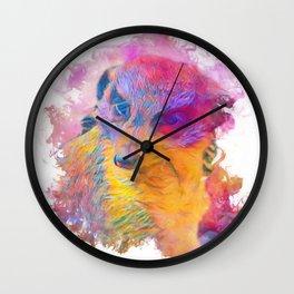 Painterly Animal -Meerkat Wall Clock