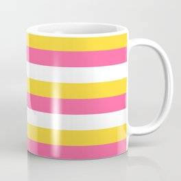 Simple striped design with beautiful bright summer colors Coffee Mug