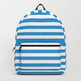 Blue , white , striped Backpack