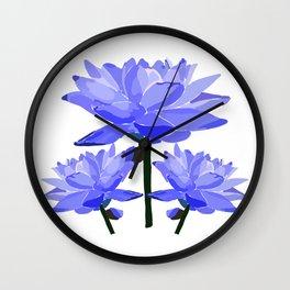Floral Trio by Hxlxynxchxle Wall Clock