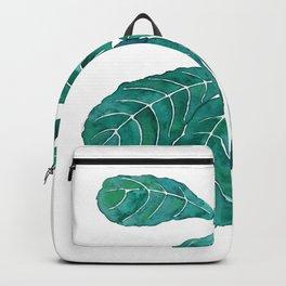 fiddle leaf fig watercolor Backpack