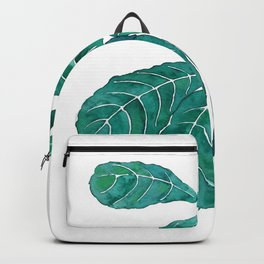 fiddle leaf fig watercolor Backpack